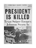 President Is Killed', Front Page of the 'Chicago Daily News', 22nd November 1963 Giclee Print