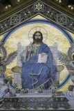 Christ Enthroned, Detail from Facade of St Andrew's Cathedral, Amalfi, Amalfi Coast Photographic Print