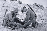 US Marines Set-Up a Field Telephone at Roi-Namur, Marshall Islands, January 1944 Photographic Print