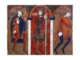 Magi Kings, Vic Workshop, 12th Century, Altarpiece from Saint Vicens of Espinelves Giclee Print