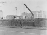 The Construction of the Berlin Wall at the Brandenburg Gate, 20 November 1961 Photographic Print