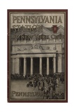 Pennsylvania Station in New York City', Advertisement for the Pennsylvania Railroad Company, 1910 Giclee Print