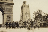 French Troops Marching in Paris in the Parade Commemorating Victory in World War I, 1919 Photographic Print