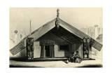 Rangihaeata House on Mana Island, Called Kaitangata, Lithograph by George French Angas Giclee Print