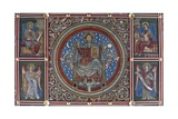 Christ Enthroned, Detail from the Painted Wooden Ceiling, Church of St Michael Giclee Print