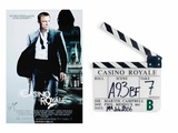 Clapperboard Used Filming Scene A93Bf Take 7, with Film Poster, from 'Casino Royale', 2006 Photographic Print