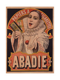 Poster Advertising Riz Abadie Cigarette Papers, Paris, C.1900 Giclee Print