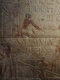 Workshop of Sculptors and Glass Blowers, Painted Relief, Mastaba of Ty, Saqqara Photographic Print