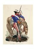 Uniform of Infantry Dragoon Giclee Print by Claudio Linati