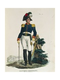 Uniform of Cavalry General Stationed in Mexico City Giclee Print by Claudio Linati