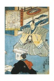 Dignitary before His Ceremonial Sword, by Utagawa Kunisada Giclee Print by Utagawa Kunisada