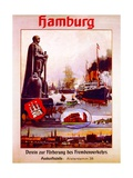 Hamburg: United for the Advancement of Tourism', Poster Advertising the Hamburg America Line, 1906 Giclee Print