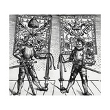Two Swiss Officers Presenting Gifts to Pope Julius II Giclee Print