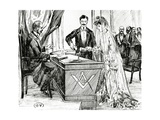 Mixing Wine and Water to Symbolise Union at a Masonic Wedding in France, C.1900 Giclee Print