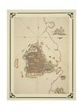 Gallipoli and Coast of Salento Giclee Print by Piri Reis