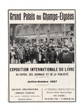 Poster for the Exposition Internationale Du Livre at the Grand Palais, 1907 Giclee Print