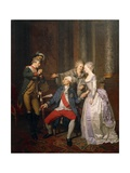 The Double Reward of the Merit or the Return from the American War of Independence Giclee Print by Pierre Alexandre Wille