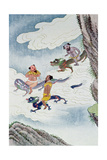 Dragon Gods, Illustration from 'Myths and Legends of China' Giclee Print