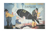 Soviet Cartoon Depicting the Usa Disguising its Nuclear Threat as the Dove of Peace Giclee Print