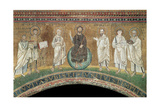 Benedictory Jesus with Sts Lawrence, Peter, Paul, Stephen, Hippolytus and Pope Pelagio Giclee Print
