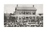 The Home of Abraham Lincoln in Springfield Giclee Print
