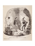 Nicholas Instructs Smike in Art of Acting Giclee Print by Hablot Knight Browne