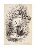 Gentleman by Door Declares His Love for Mrs Nickleby Giclee Print by Hablot Knight Browne