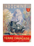 Indochine Terre Francaise', Cover of an Official Booklet on the French Colonies, 1944 Giclee Print