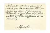 Handwriting and Signature of Abraham Lincoln Giclee Print