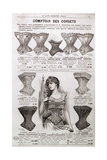 Advertisement for Corsets and Undergarments, from the 'Bon Marche' Department Store, Paris, C.1900 Giclee Print