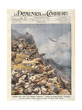 Battle of Amba Alagi, Front Page of 'La Domenica Del Corriere', 18th May 1941 Giclee Print