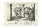 Charles V of France Offering Bertrand Duguesclin the Sword of Constable of France Giclee Print
