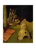 Tiara and Golden Sculpture Depicting the Sacrifice of Isaac Giclee Print by Hieronymus Bosch