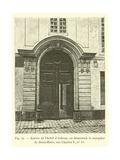 Entree De L'Hotel D'Aubray, Ou Demeurait La Marquise De Brinvilliers, Rue Charles V, No 12 Giclee Print