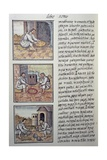 Gold Processing after the Spanish Conquest, Page from the Florentine Codex Giclee Print