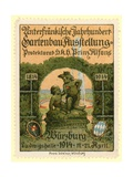 Lower Franconian Centenary Horticulture Exhibition, Wurzburg, Germany, 1914 Giclee Print