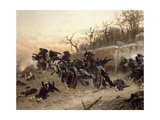 The Retreat of the French Artillery Giclee Print by Alphonse De Neuville