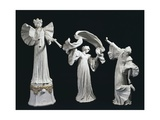 Three Art Nouveau Style Statuettes of Female Figures of Triumph Giclee Print by Agathon Leonard