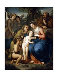 The Holy Family with Saint Elizabeth Giclee Print by Anton Raphael Mengs