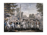 The British Surrendering to George Washington after Battle of Yorktown in October 1781 Giclee Print by John Francis Renault