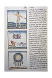 Goldsmith, Page from the Florentine Codex, Bilingual Version in Spanish and Nahuatl Giclee Print