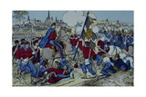 Ricciotti Garibaldi Brings the Flag of the 61 Regiment of Pomeranian Giclee Print