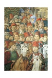 The Cavalcade of the Magi Giclée-tryk af Benozzo Gozzoli