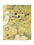 Eastern Europe and Central Asia: Transilvania and Russia Giclee Print by Battista Agnese