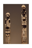 Detail of Upper Section of Wooden Pole Sculptures from Island of Flores Giclee Print