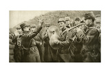 The 'Marseillaise' Played in the Trench, from 'Le Miroir', 17 October 1915 Giclee Print