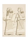 Relief Depicting a Man and a Woman Giclee Print by Eugene Flandin