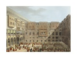 Mameluke Practice in Front of the Palace of Mourad Bey in Cairo Giclee Print by Luigi Mayer