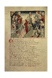 Siegfried Sees Kreimhild for the First Time, from the 'Hundeshagen Nibelungen Codex' Giclee Print