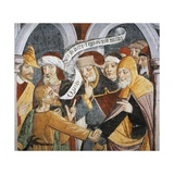 Noble People Wearing Medieval Clothes Giclee Print by Giovanni Canavesio